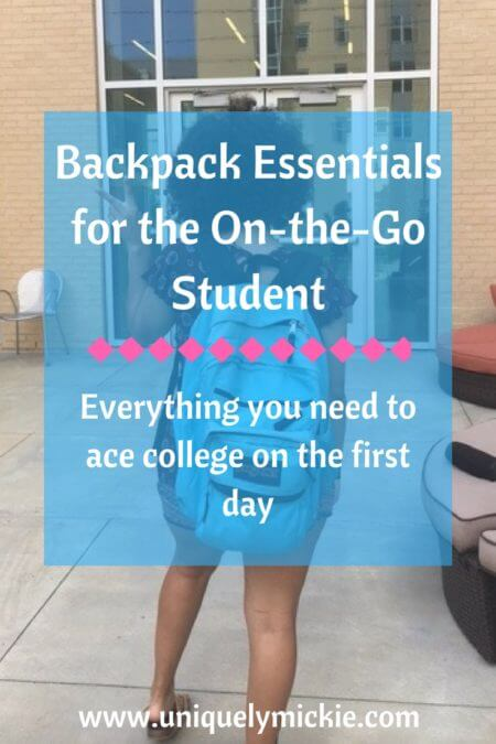 Backpack Essentials for the On-the Go Student