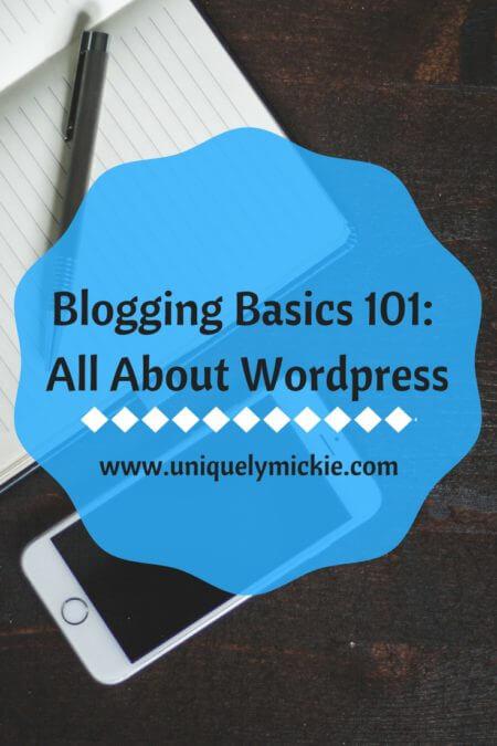 Blogging Basics 101 All About Wordpress